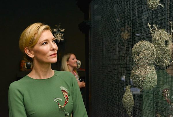 Cate Blanchett at the opening of the Australian Pavilion.