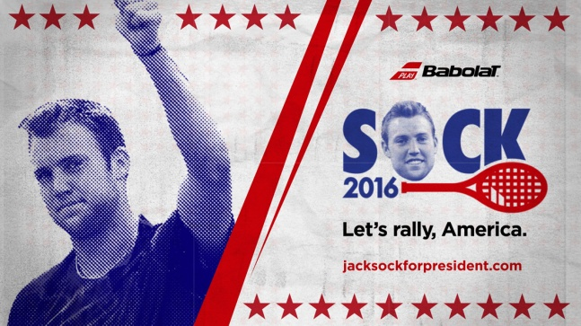 Babolat's campaign for 'Jack Sock for President' looks like a great write-in vote these days.