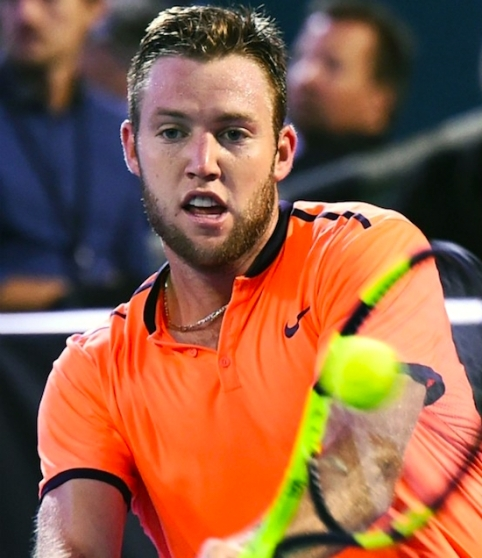 Jack Sock in round two at the ASB Classic in Auckland