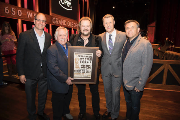 Pictured: Travis Tritt celebrated his 25th anniversary of becoming an Opry member Tuesday night, February 28. © 2017 Grand Ole Opry / Photos by Chris Hollo